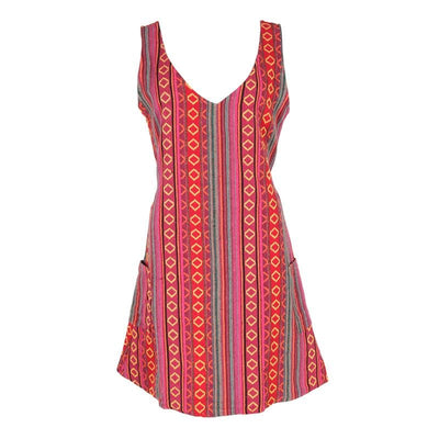 Jaquard Cotton Pinafore Dress