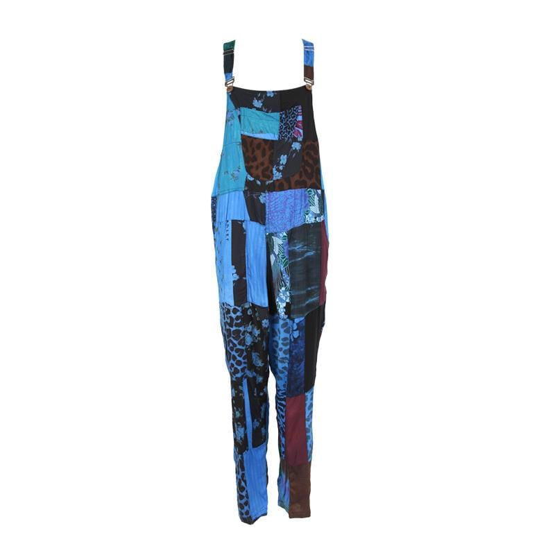 Overdyed Patchwork Dungarees