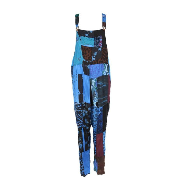 Men's Overdyed Patchwork Dungarees