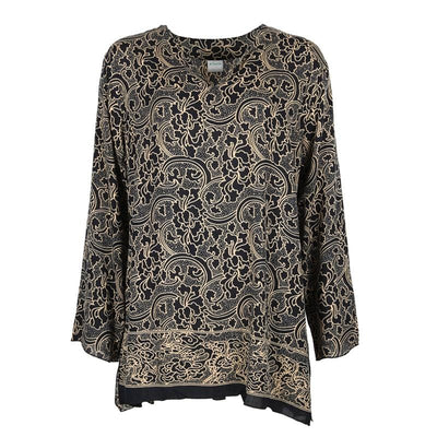 Hibiscus Print Tunic Top