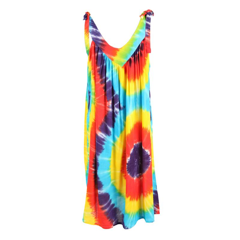 Rainbow Tie Shoulder Dress