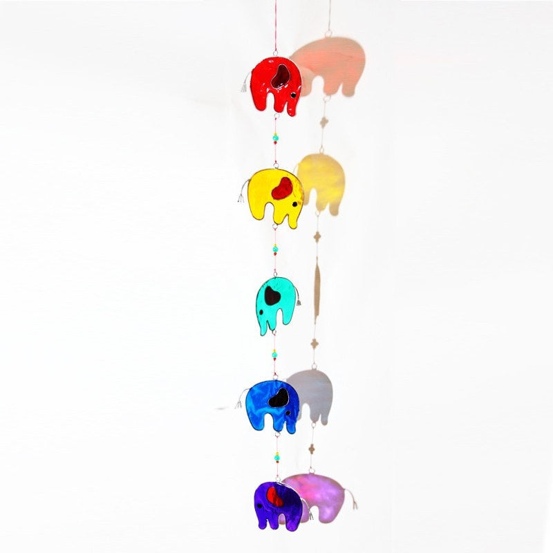 Rainbow Elephant Suncatcher