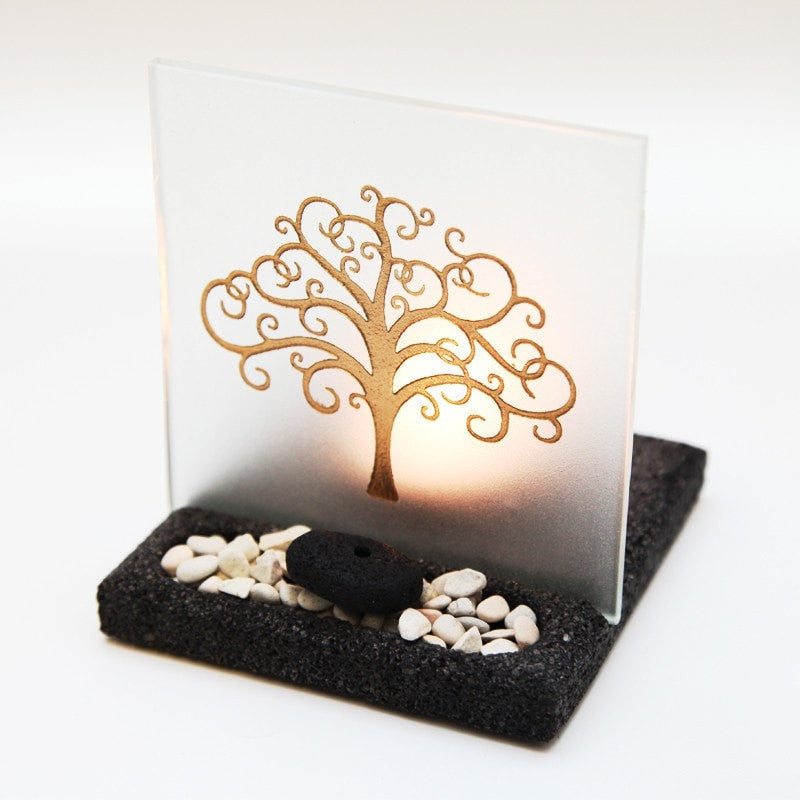 Tree of Life T-Light & Incense Holder