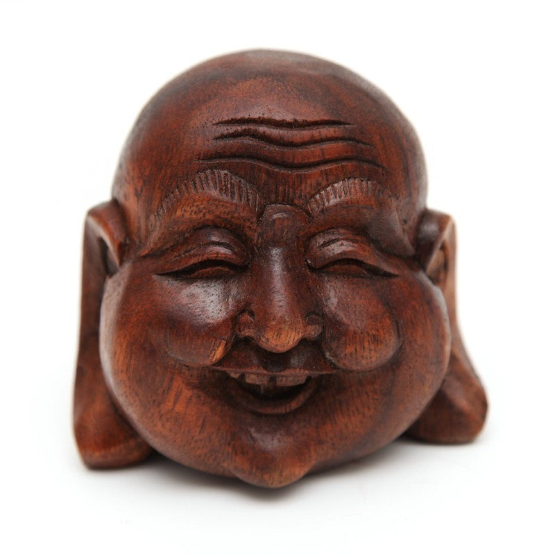 Wooden Laughing Buddha