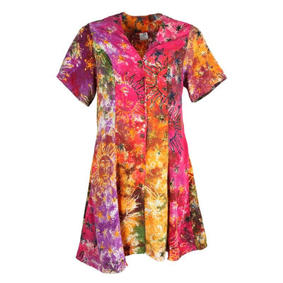 Tie Dye Ditsy Dress