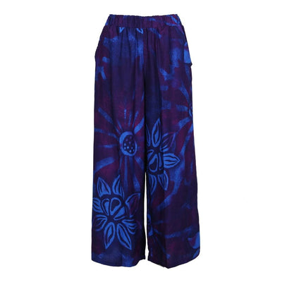 Cropped Bali Printed Trousers
