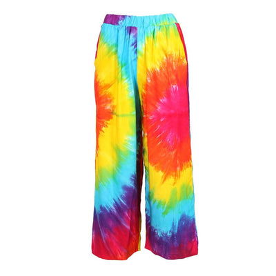 Cropped Tie Dye Trousers