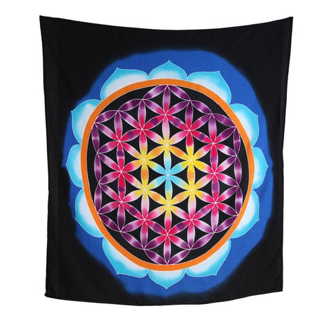 Flower Of Life Batik Wall Hanging