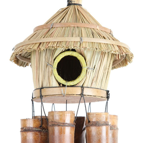 Bamboo Birdhouse Wind Chime
