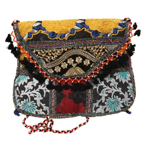 Embroidered Tassel Envelope Bag