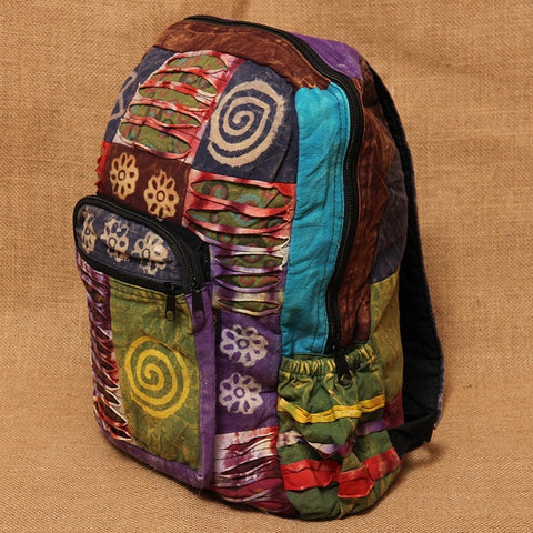 Gringo Patchwork Cotton Backpack