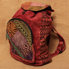 Gringo Cotton Backpack w/ Front Pocket