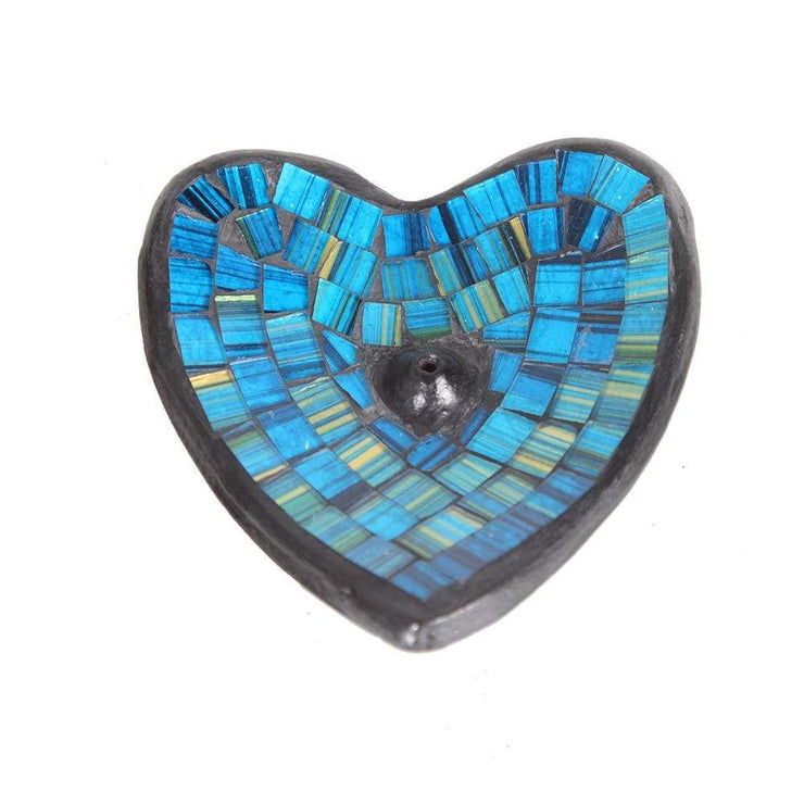 Heart Mosaic Incense Holder