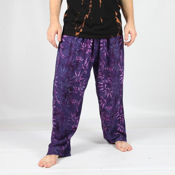 Men's Purple Jungle Print Trousers