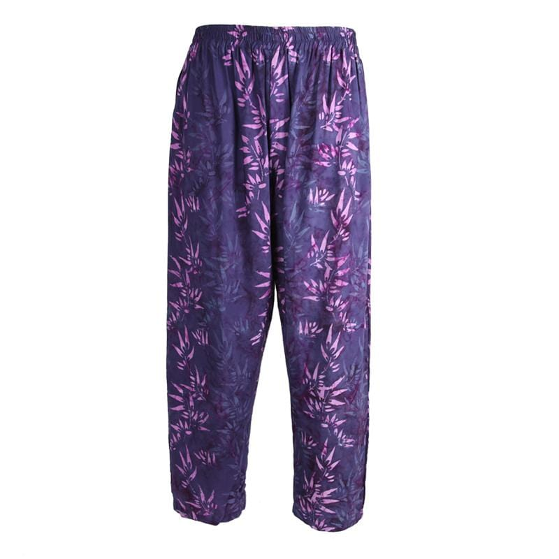 Purple Jungle Print Trousers
