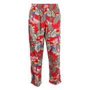 Jungle & Parrot Print Trousers