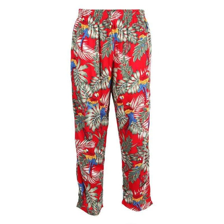 Men's Jungle & Parrot Print Trousers