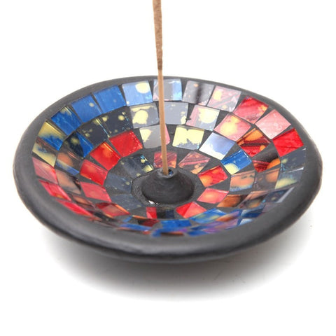 Japanese Style Bowl Mosaic Incense Stick Holder