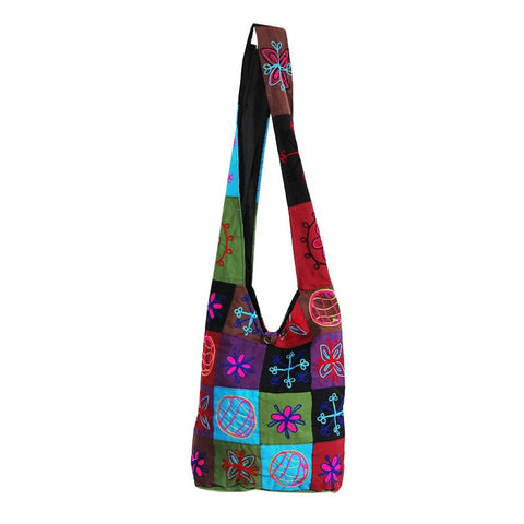 Gringo Embroidered Cotton Patchwork Bag