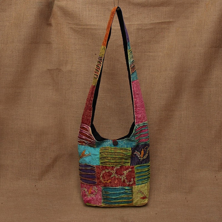 Nepalese Embroided Barley Patchwork Bag