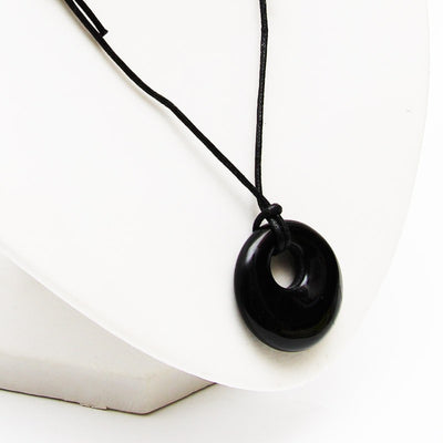Black Obsidian Round Necklace