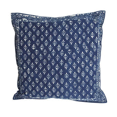 Indigo Block Print Cushion cover