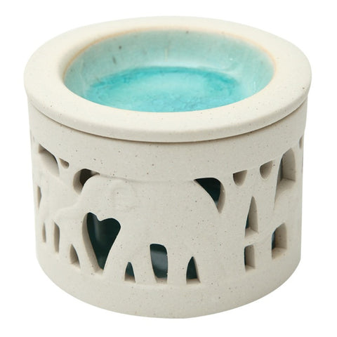 Elephant Porcelain & Blue Glaze Oil Burner