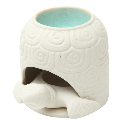 Turtle Porcelain & Blue Glaze Oil Burner