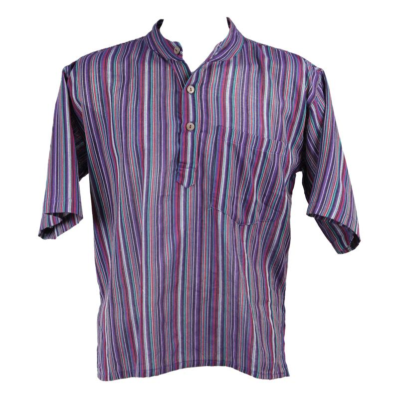 Men's Short Sleeve Grandad Shirts