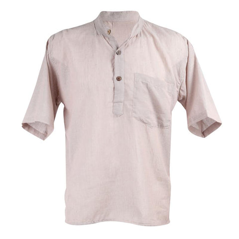 Men's Natural Cotton Short Sleeve Shirt