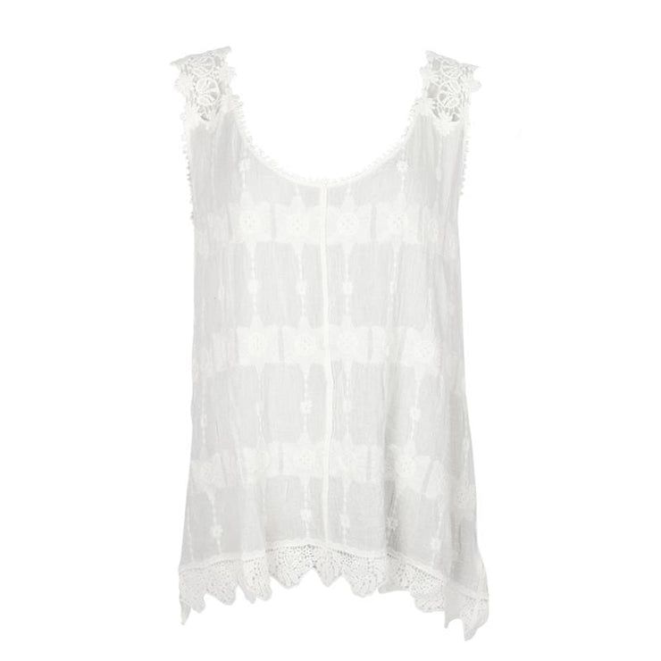 Crochet Lace Sleeveless Top