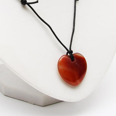 Carnelian Heart Necklace - Joy