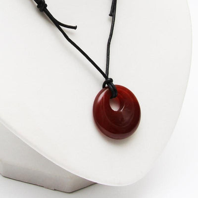 Carnelian Round Necklace - Joy