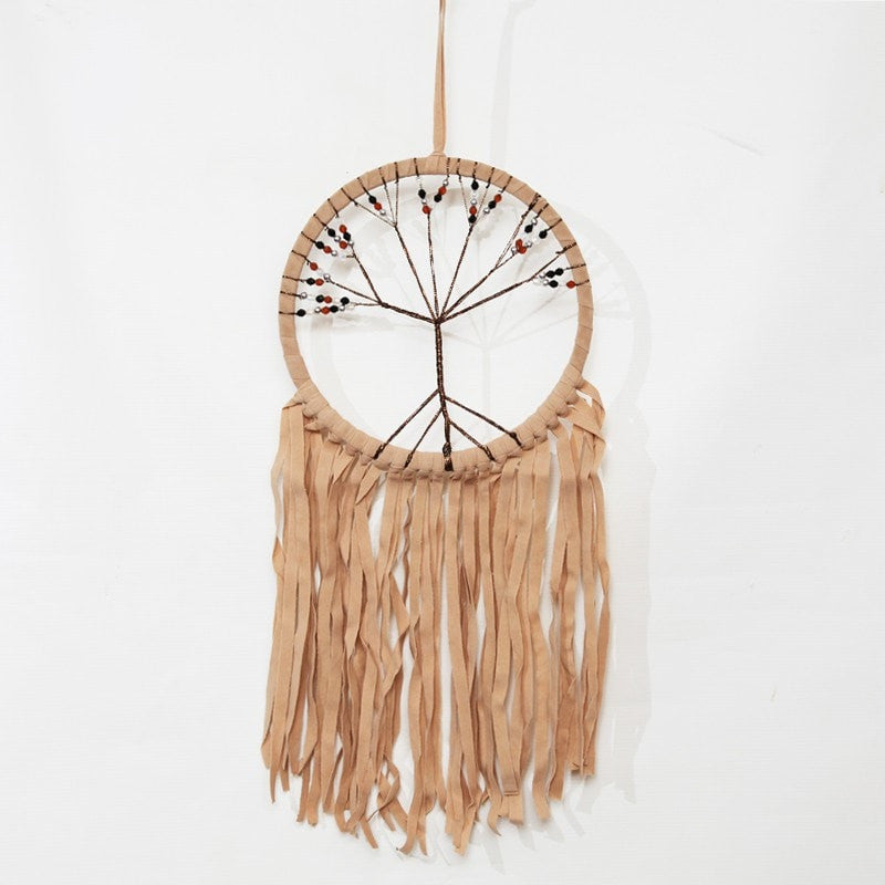Tree of Life Faux Suede Dreamcatcher