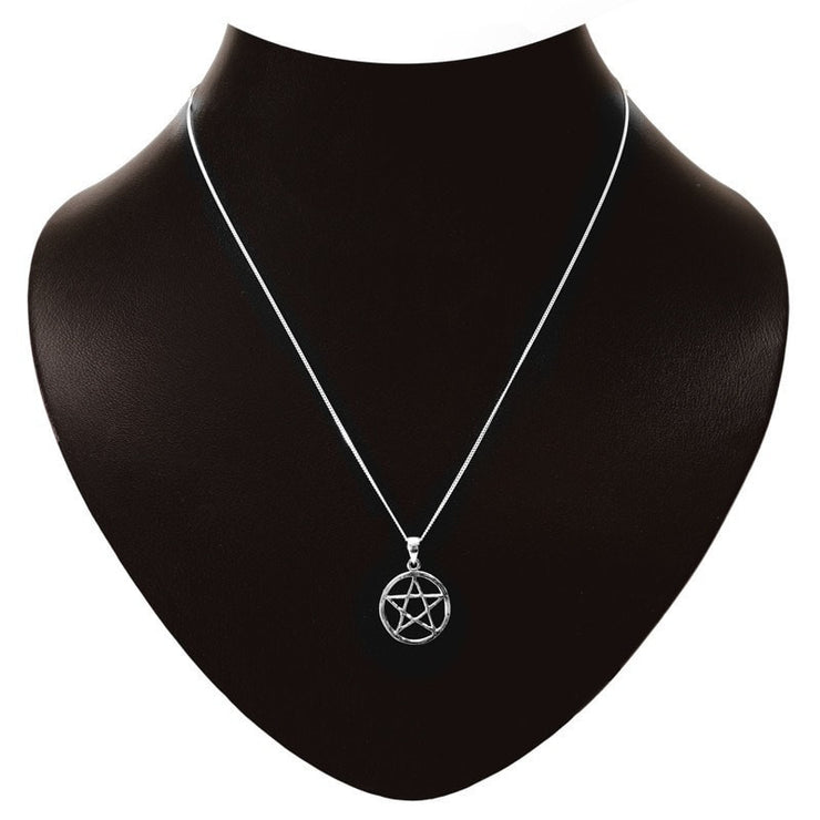 Pentagram Sterling Silver Necklace