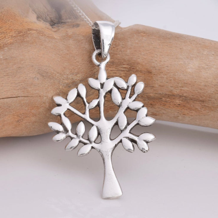 Solid Sterling Silver Tree of Life Pendant