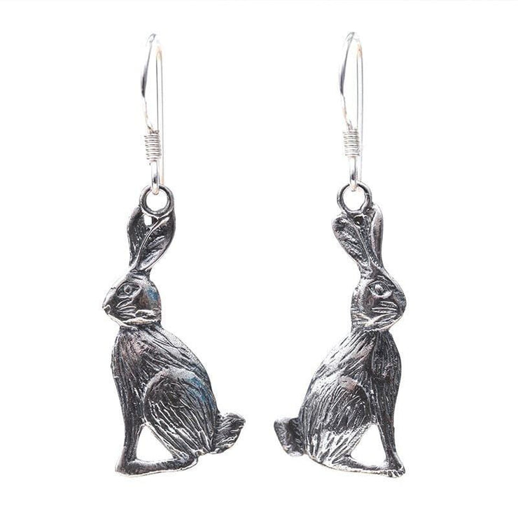 Sterling Silver Hare Earrings