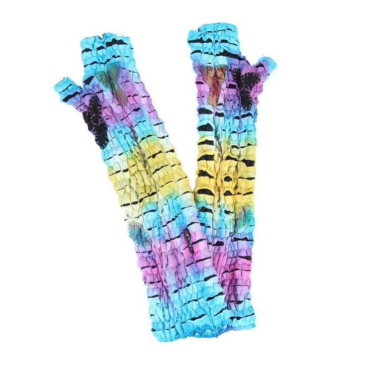 Long Psychedelic Wrist Warmers