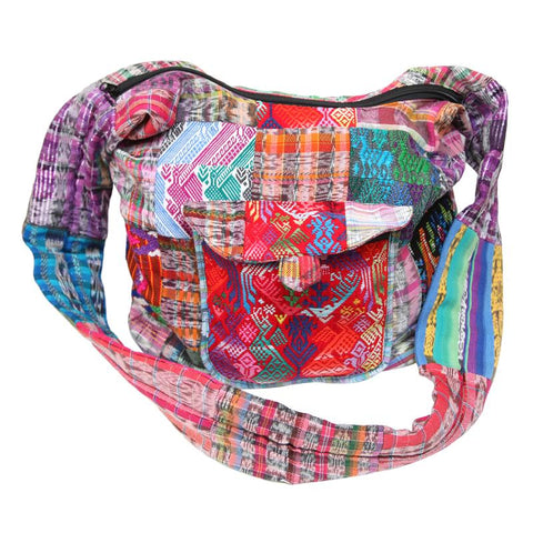 Guatemalan Patchwork Slouch Bag
