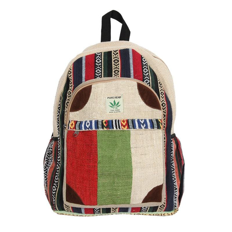 Patchwork Hemp Backpack