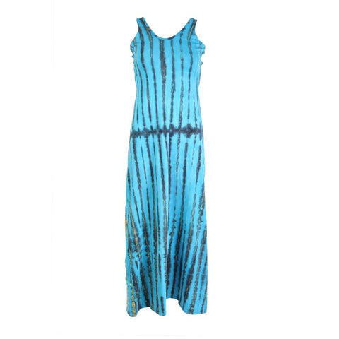 Open Back Tie Dye Maxi  Dress