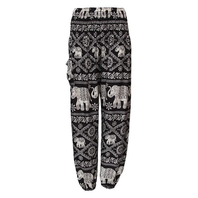 Thai Elephant Print Harem Trousers