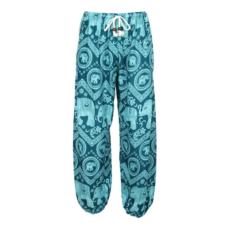 Men's Thai Print Elephant Joggers
