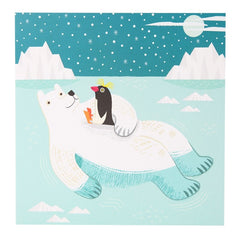 Float On Polar Bear & Penguin Card