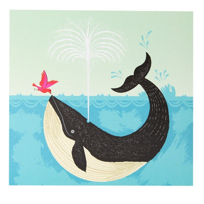 Whale & Bird Unlikely Friendship Card