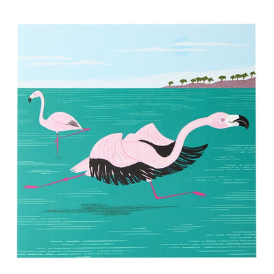 Fun Flamingos Greeting Card