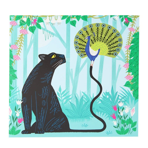 Power Pairing Panther & Peacock Card