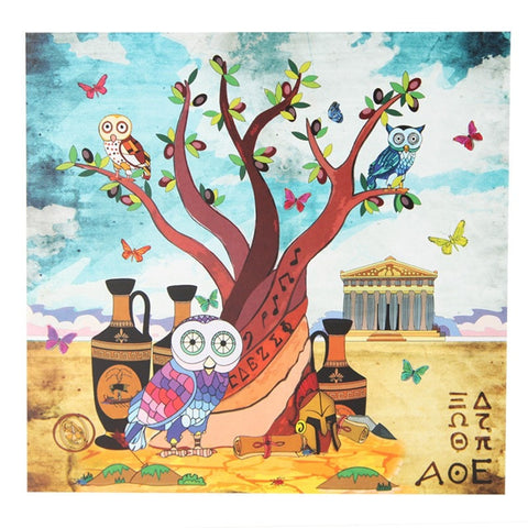 Owls & Tree Greeting Card
