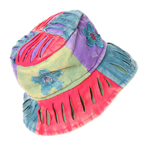 Patchwork Flower Bucket Hat