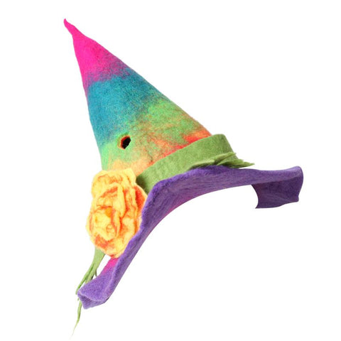 Felt Rainbow Witch Hat